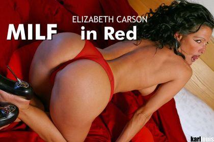 Elizabeth Carson MILF in Red