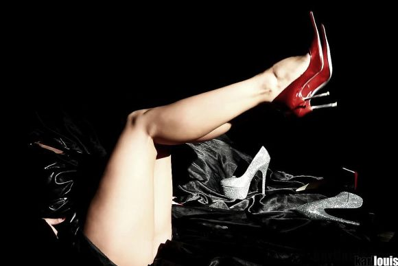 Francesca Felucci High Heels in Bed