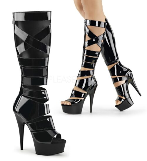 DELIGHT-600-49 | Gladiatorlaars met stiletto hak
