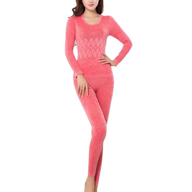 Women Winter Breathable Warm Long Johns Ladies Slim Underwears Sets  bottoming Women Autumn Thermal Underwears e48cf649e7ec
