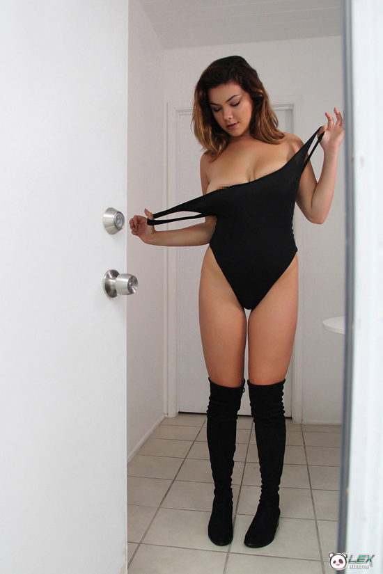 Is Lex about to remove her leotard?