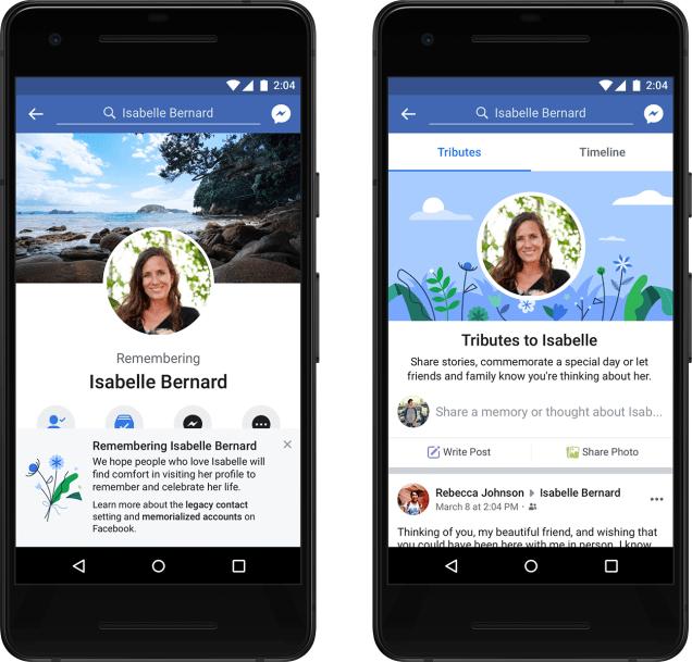 facebook memorialized accounts