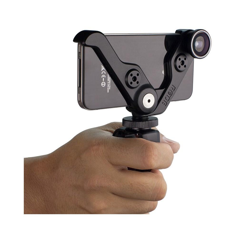 RODE Grip+ Support Multi-fonctions et lentille pour iPhone 5C