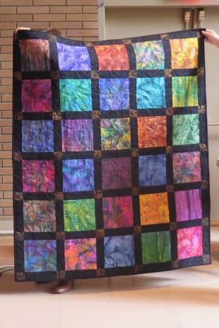 Sylvia's batik quilt