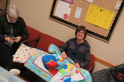 Tere and Irene, Community Quilt Day