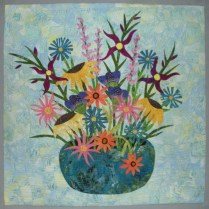 Still Life Bouquet - woven background