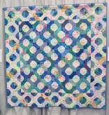 Blue Bowtie Circles by Joan Gold