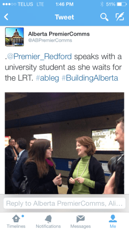 Meeting the Premier - Twitter Post