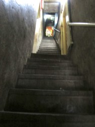 Not the greatest photo, but just an idea of how steep some of the stairwells are here when we are out in service! Crazy