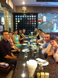At the convention we met tons of new friends!!! This night we went out for Lebanese food!