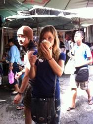 Dairy free coconut ice cream! I got TWO!!!!