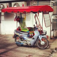 Photo credit to Glen Edwards!!! Thailand wasn't completely deprived of bizzare vehicles!
