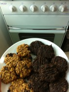 The new oven and Abby's creations!!!! YUM