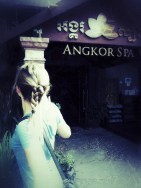 Here I had just gotten a massage at Angkor Spa. Unlike all the other massages I have had previously, the girl braided my hair half way through! Lol. Bizzare bonus!