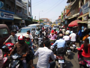 I held my camera high as we drove through traffic this day. This captures typical traffic on any given day.