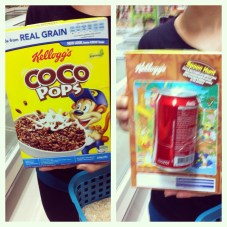 Hey guys, lets strap a can of coke on this cereal! The perfect combo.....or the perfect storm. Not sure!?