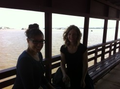Crossing the Mekong river. Notice the beautiful color of the water!? BARF