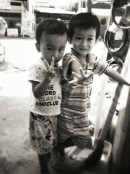 These two were giving me the double peace signs the entire time i was drinking my coconut. Was pretty cute tho!