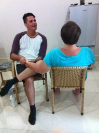 Tui does reflexology! BUT I NEVER GOT ONE! ARGH! lol