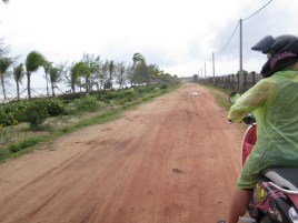 Sihanoukville and its red roads.