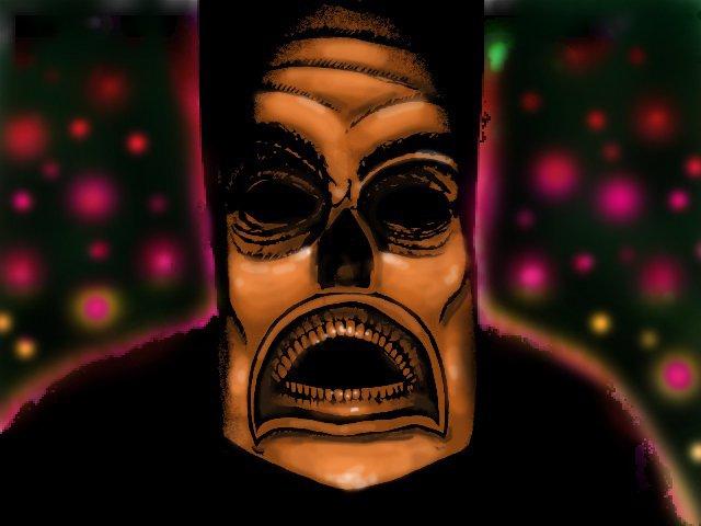 Photo of Art Mask Photoshopped