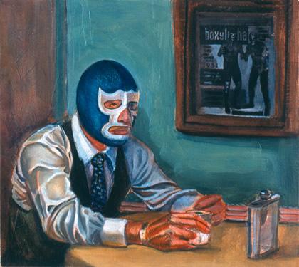 Sergio Teran - Artist Echo Park Los Angeles Masks in Paintings & Drawings (5/5)