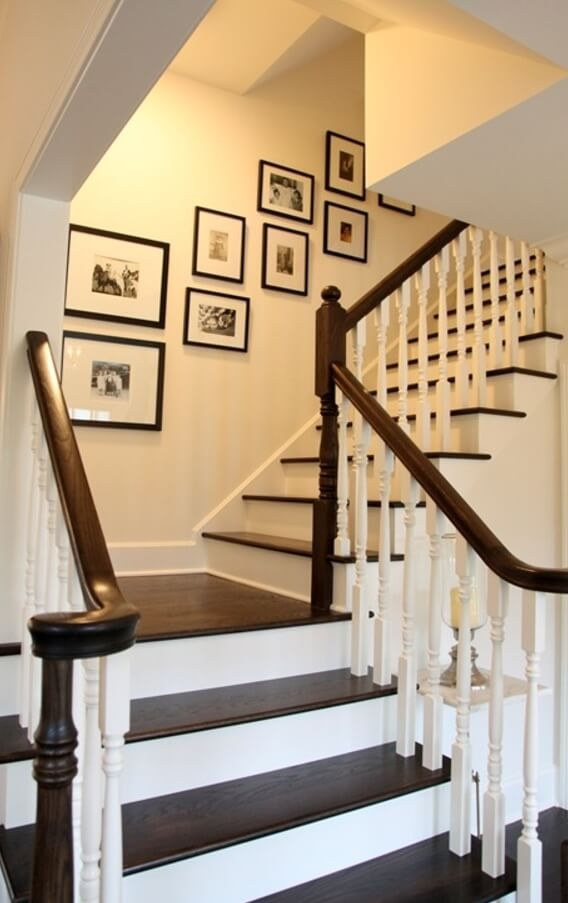 19 Painted Staircase Ideas For Your Home Decor Inspiration   Stair Wall Colour Design   Wood Wall   Before And After   Room Wall   Hall Colour Combination   Family