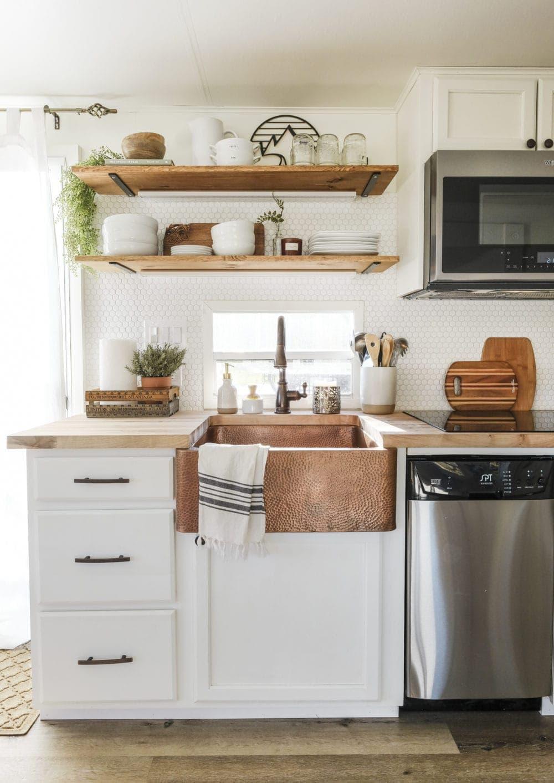 rv kitchen remodel new cabinets