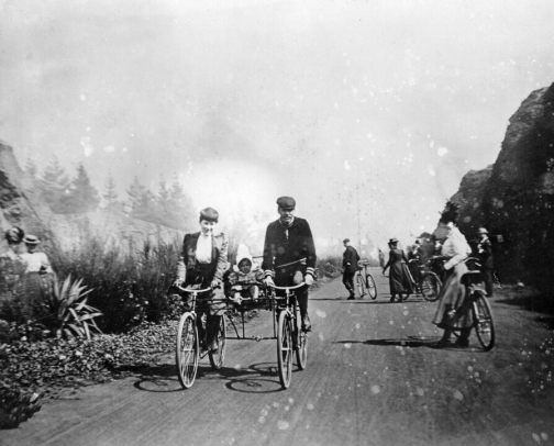 Cycling in Golden Gate Park in the 1890s.