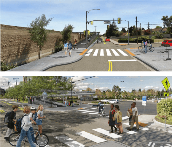 Photosims of EPA 101 Bike/Ped Bridge Landings