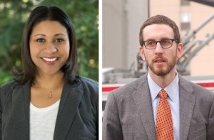 Supervisors London Breed and Scott Wiener debated the merits of pandering to cars-first voters last week. Photo left: Office of London Breed, Photo right: Aaron Bialick