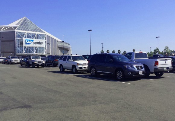 SAP Center Parking Lot