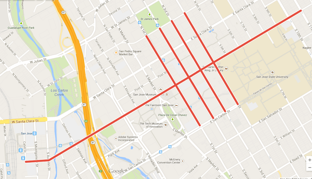 San Jose Council Calls for Banning Sidewalk Cycling on Five Downtown ...