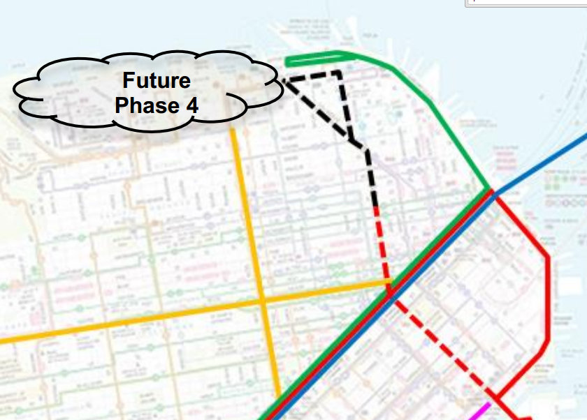 Muni Subway Map.Extending The Central Subway Why Stop At Fisherman S Wharf