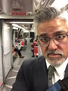 Supervisor John Avalos, one of six supes to get on board with SFTRU's 22-day Muni riding challenge, tweeted a photo early.