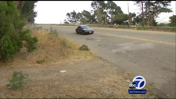 Persia at Sunnydale Avenue in McLaren Park, where Pinkerton died, is set for a safety upgrade next year. Screenshot from ABC 7