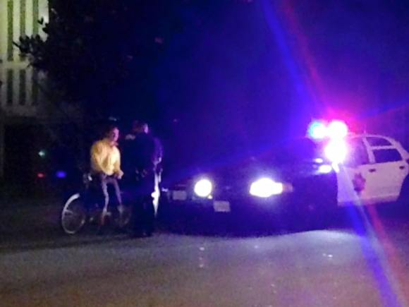SFPD was spotted ticketing bike commuters on the Wiggle as late as 11:30 p.m. last night. Help by filming the crackdown on your commute. Photo: Kristin Tieche