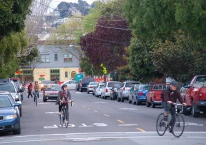The veto of Bike Yield can't be permitted to discourage advocates for safe streets. Photo: Aaron Bialick