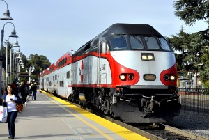Caltrain at Palo Alto Station. Photo: Wikimedia Commons