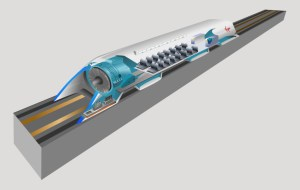Hyperloop cutaway drawing. Image from SpaceX.
