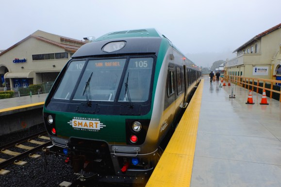 Rail returns to San Rafael for first time in a half century. Photo: SMART.