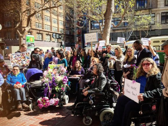 Family, friends and advocates attend a memorial for Thu Phan. Photo: JikaiahStevens.