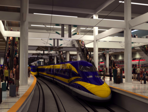 Despite the renderings, without leadership from the City of San Francisco, Transbay will never see trains in it's basement. Image: Transbay Joint Powers Authority.