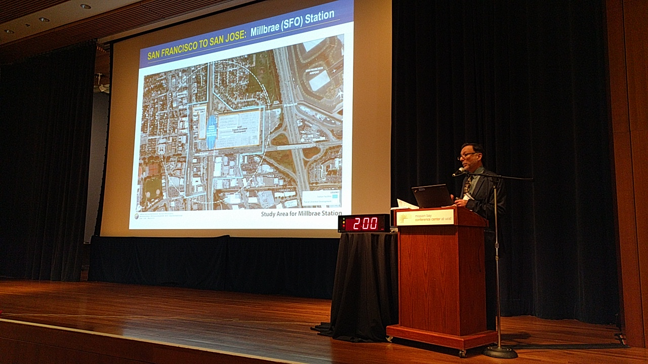 Bruce Fukuji talked about station-area planning. Photo: Streetblog