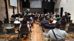Some 50 people listened to the discussion at SPURs Oakland office. Photo: Streetsblog.
