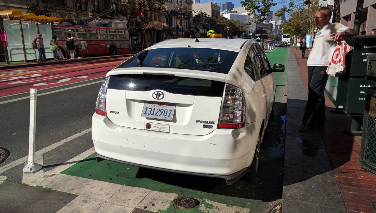 San Francisco's bicycle infrastructure is defeated by its own employees. Photo: Streetsblog.