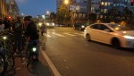 Despite the vigil, cars continued to speed unabated up 7th. One was clocked at 65 mph by radar. Photo: Streetsblog.