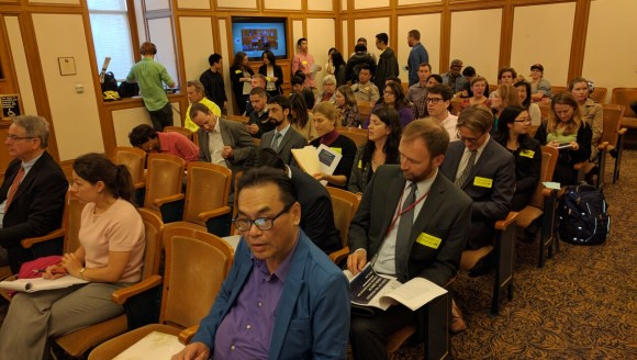 Some 40 advocates and city officials attended the meeting at SF City Hall. Photo: Streetsblog.