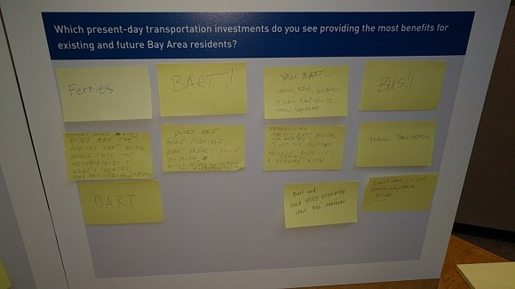 The catch-all planning meeting took comments by electronic means, comment cards, and Post-it note. Photo: Streetsblog.
