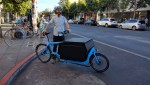 Ian Williamson, a sales rep for Revel Wine, says there are ways to make deliveries without blocking bike lanes--like on a bike! Photo: Streetsblog.